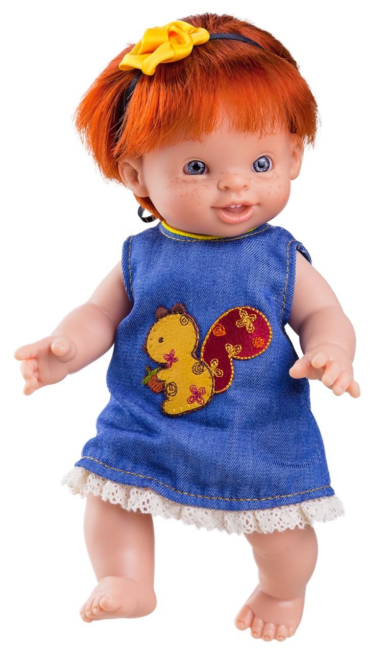 Realistická panenka Paolita Helena v modrých šatech od firmy Paola Reina