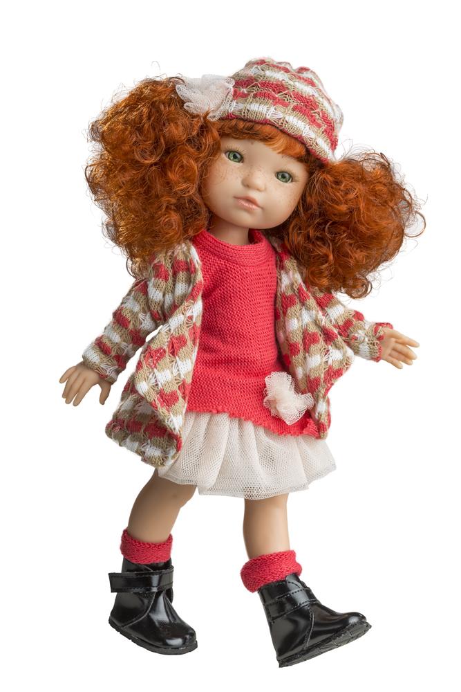 Realistická panenka - holčička - Babeta v červeném od firmy Berjuan