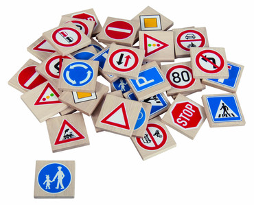 DETOA pexeso Dopravní značky (Dřevěné hračky )