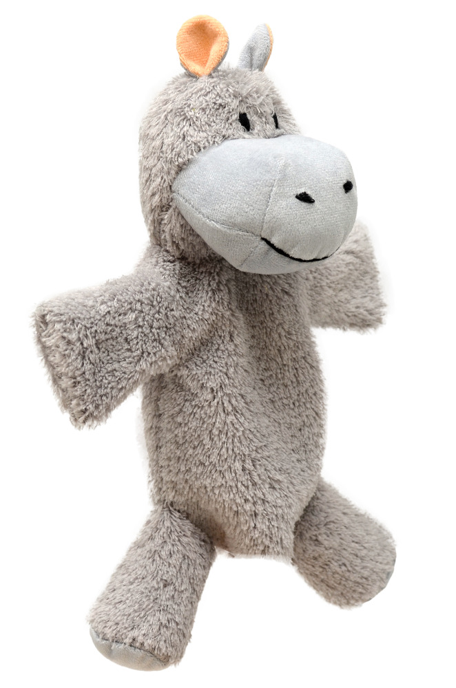 Maňásek na ruku s nohama - Hroch šedý