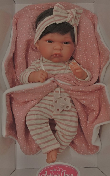 Realistické miminko - holčička Toneta s vlásky od f. Antonio Juan