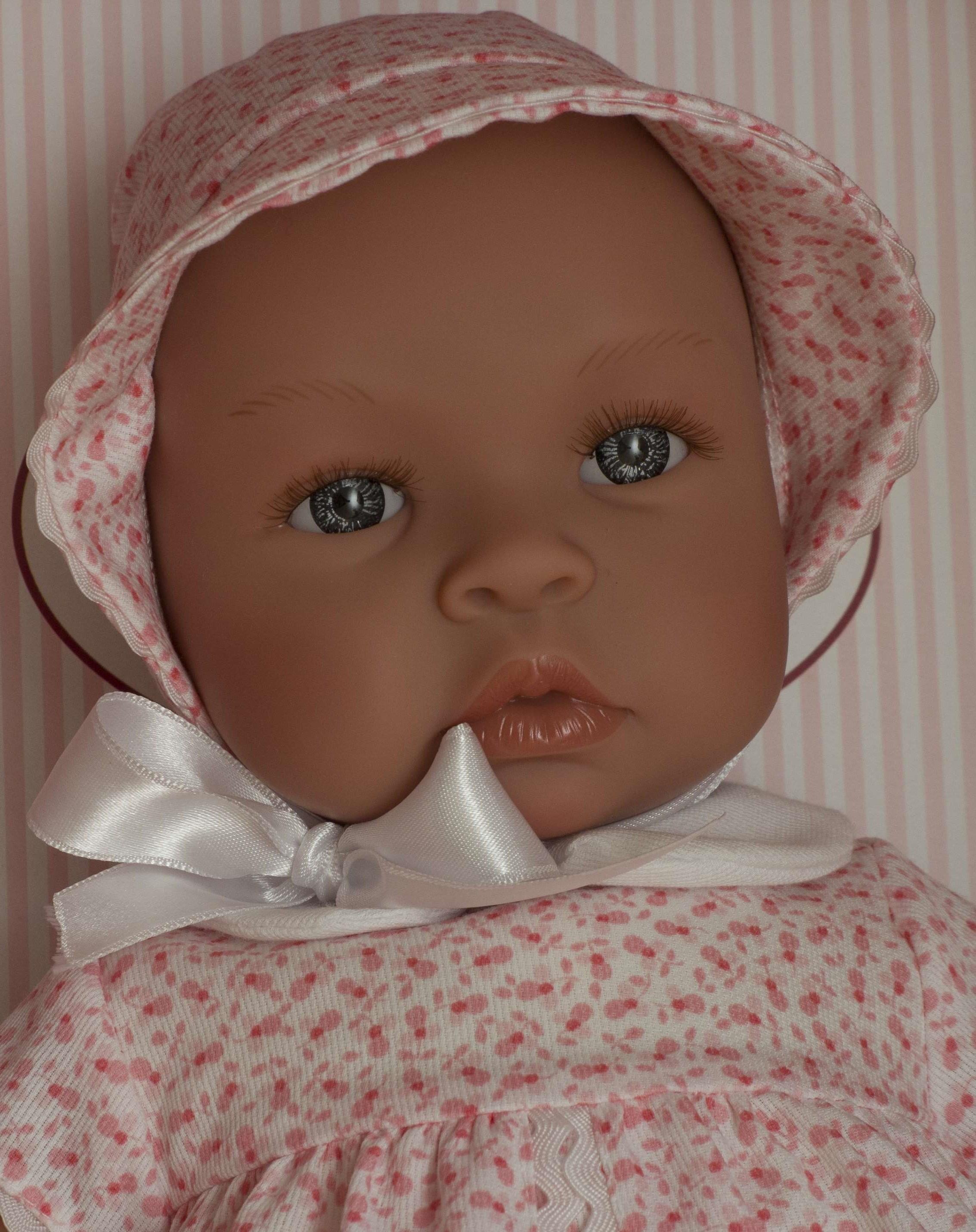 Realistické miminko - Lea - letní šaty do růžova- od firmy ASIVIL ze Španělska