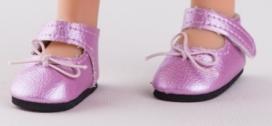 Růžové boty na suchý zip