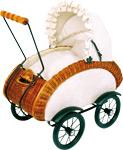 """Proutěný kočárek pro panenky """"Leonor"""" (routěný kočárek pro panenky """"Leonor"""")"""