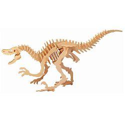Dřevěné 3D puzzle dřevěná skládačka dinosauři velký Velociraptor BJ004