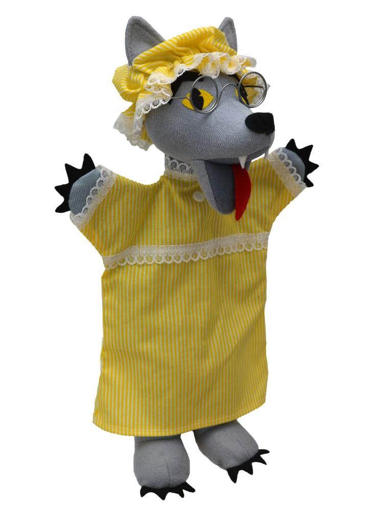 Maňásek na ruku - Vlk oblečený 2v1