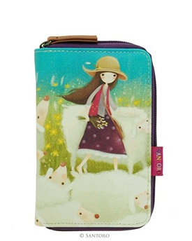 Peněženka na zip Buttercup Meadow od firmy SANTORO Kori Kumi