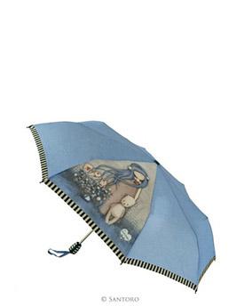 Vystřelovací deštník s motivem Dear Alice od firmy SANTORO London Gorjuss (Gorjuss Auto Umbrella - Dear Alice)