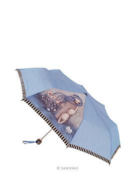 Skládací deštník s motivem Dear Alice od firmy SANTORO London Gorjuss (Gorjuss Manual Umbrella - Dear Alice)