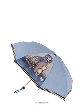 Skládací deštník s motivem Dear Alice od firmy SANTORO London Gorjuss (Gorjuss Manual Pouch Umbrella - Dear Alice)