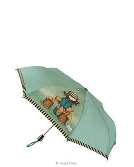 Vystřelovací deštník s motivem The Foxes od firmy SANTORO London Gorjuss (Gorjuss Auto Umbrella - The Foxes)
