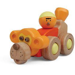 Dřevěné hračky - Hravá stavebnice Moje ZOO - Opičí auto (Dřevěné hračky - Stavebnice Moje ZOO - Opičí auto)
