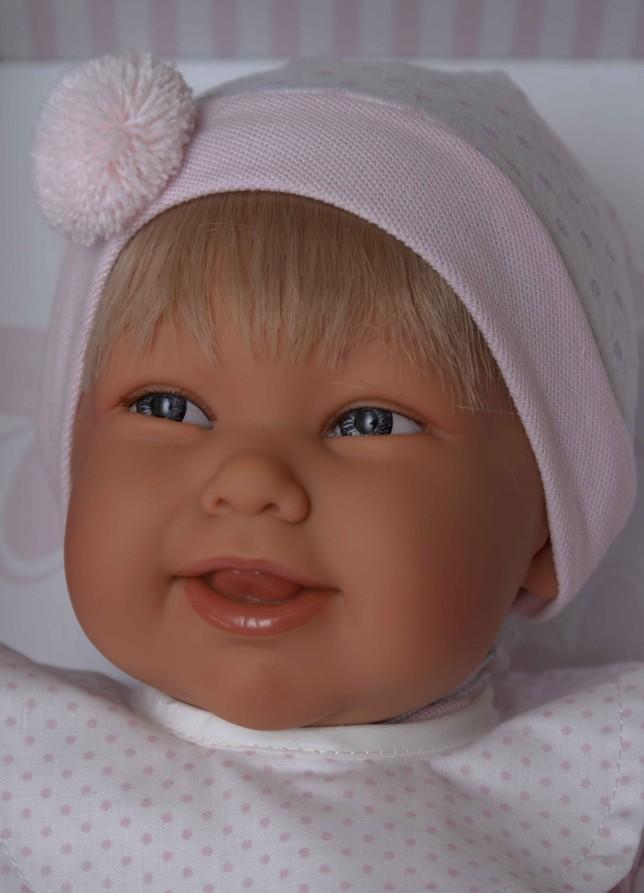 Realistické miminko - holčička Martina s vlásky od Antonio Juan