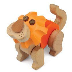 Kreativní stavební sada - Hravá stavebnice Moje ZOO - Lev (Dřevěné hračky - Stavebnice Moje ZOO - Lev)