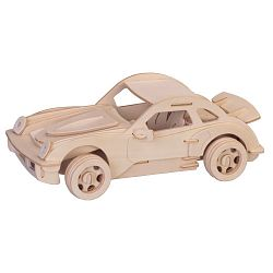 Dřevěné 3D puzzle dřevěná skládačka auta malé Porsche P066a