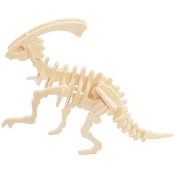 Dřevěné 3D puzzle skládačka - dinosauři Parasaurolophus