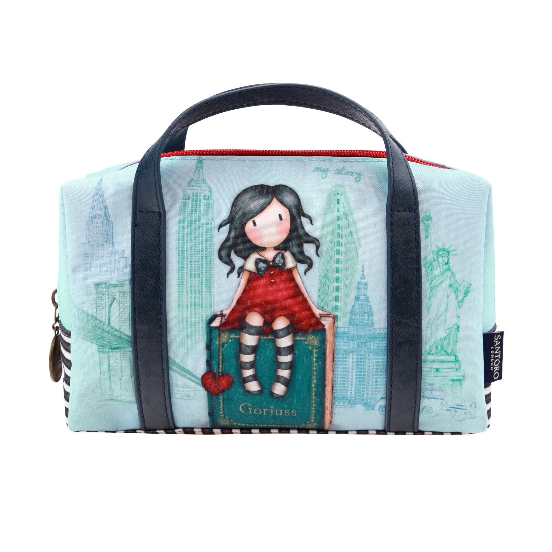 Penál ve tvaru tašky - My Story od firmy SANTORO Gorjuss (Gorjuss Cityscape - Suitcase Pencil Case -My Story)