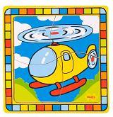Bigjigs Toys dřevěné hračky - Vkládací puzzle vrtulník (Dřevěné hračky - vkládací puzzle )