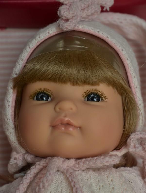 Realistická panenka holčička Claudia - světlé vlásky od firmy Berjuan