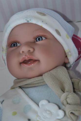 Realistické miminko Antonio Juan - chlapeček Pipo v pyžamu (Doprava zdarma)