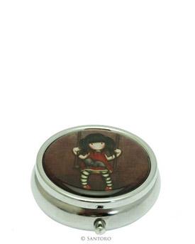 "Plechová krabička na léky - ""Ruby"" od firmy SANTORO London Gorjuss (Gorjuss Pill Box - ""Ruby"")"