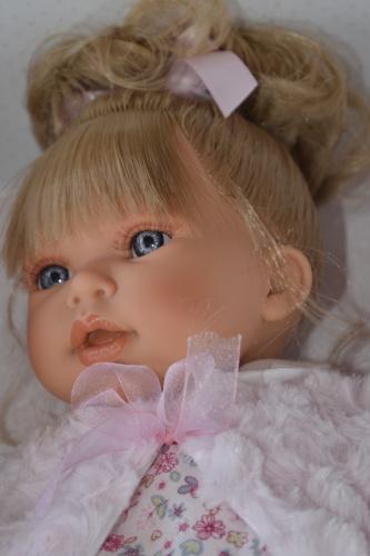 Realistická panenka Antonio Juan - holčička Any coleta - světlé vlásky