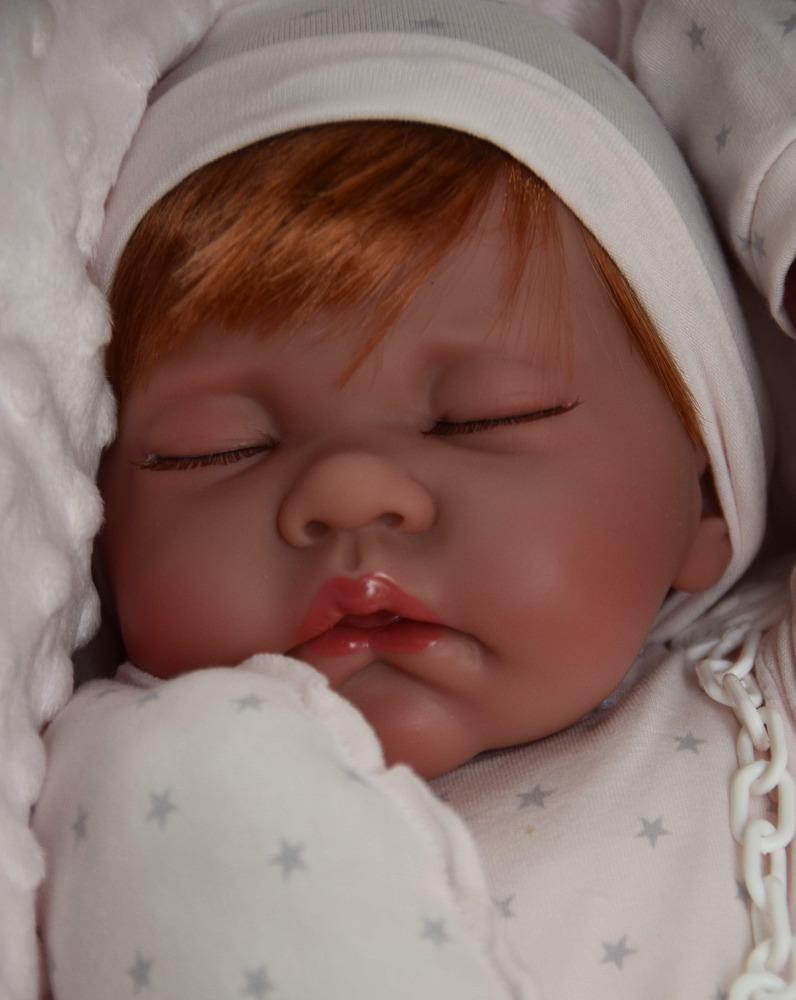 Realistické miminko - holčička Luna - zrzavé vlásky od Antonio Juan