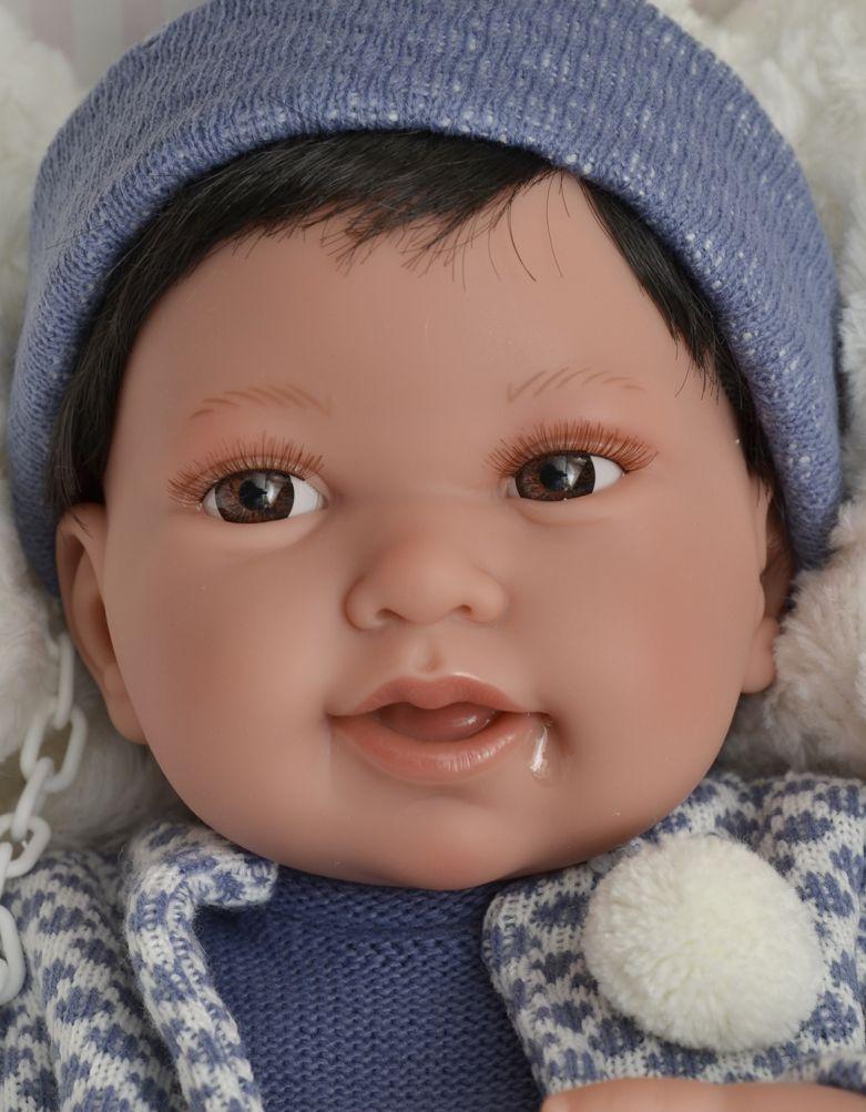 Realistické miminko Antonio Juan - chlapeček Pipo - tmavé vlásky