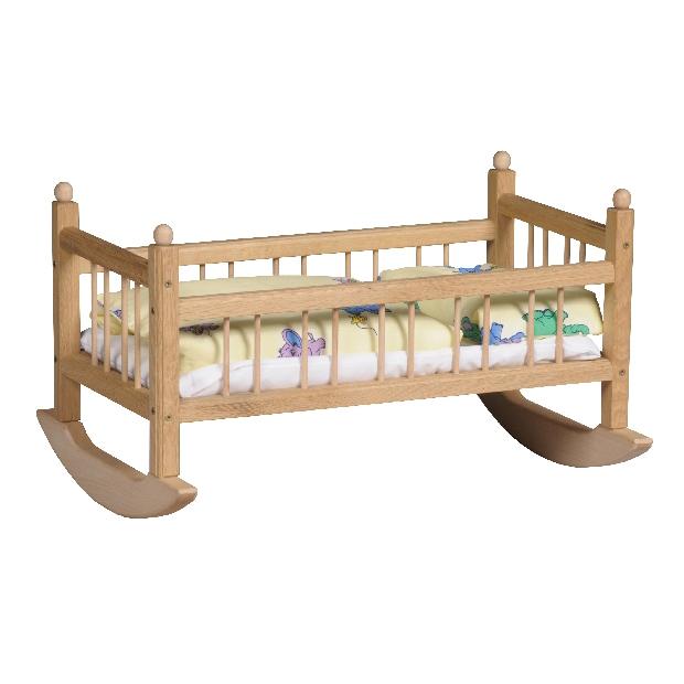 Kolébka pro panenky vč. matrace, přikrývky, polštáře a povlečení (Doprava od 35 Kč)