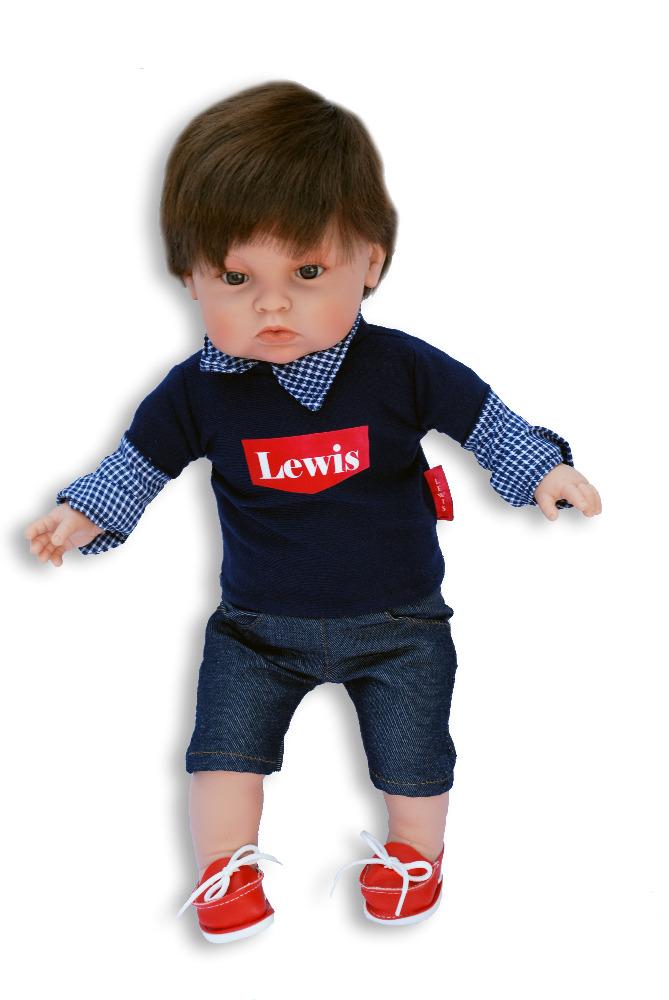 Realistická panenka chlapeček Lewis 2 od firmy ENDISA ze Španělska (Doprava zdarma)