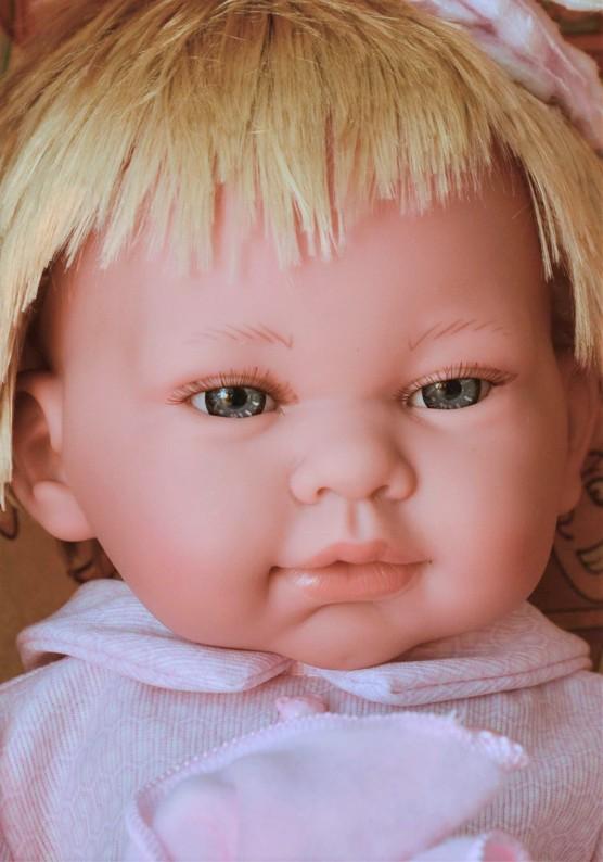 Realistické miminko - holčička - Marina - blonďaté vlásky od firmy Lamagik