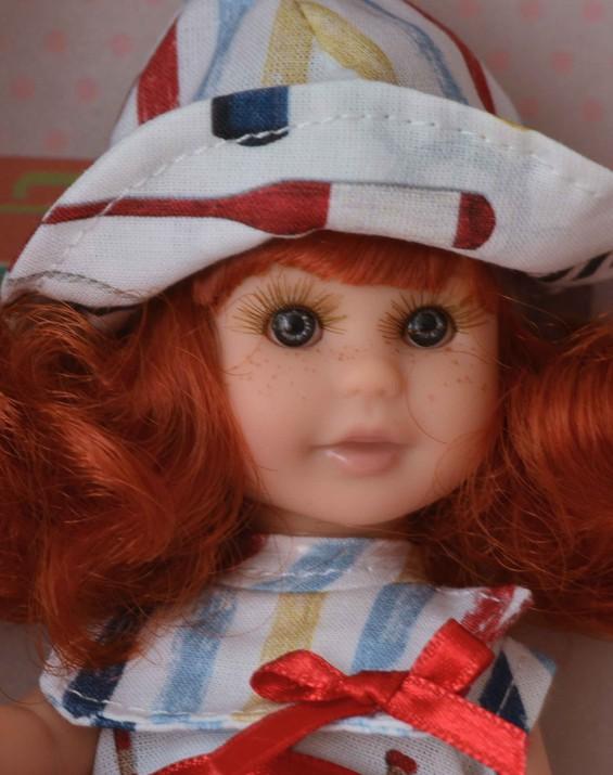 Realistická panenka holčička Irena - zrzavé vlásky od firmy Berjuan
