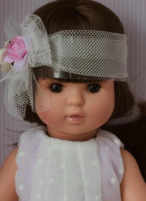 Realistická panenka holčička Sofia - tmavé vlásky od firmy Berjuan
