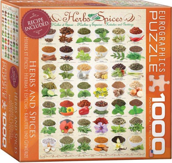 Puzzle EuroGraphics Bylinky a koření (Puzzle 1000 dílků)