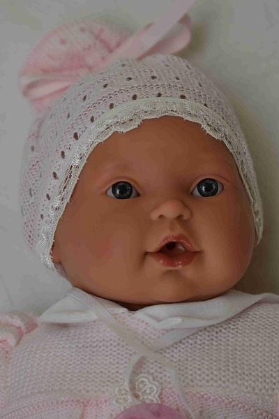 Realistická panenka - miminko- holčička Kika lana od Antonio Juan