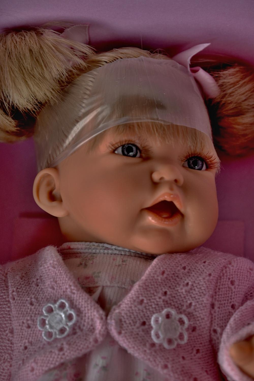 Realistická panenka - holčička - Petit Dos Colas - světlé vlásky (Doprava od 35 Kč)