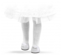 Fotografie Bílé nízké boty s bílou kytičkou