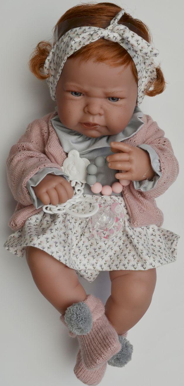 Realistické miminko - holčička Lea - zrzavé vlásky od Antonio Juan
