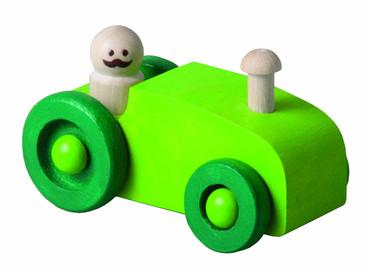 DETOA dřevěné autíčko zelené - traktor (Dřevěné hračky )