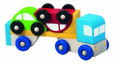 DETOA Truck s autíčky (Dřevěné hračky )