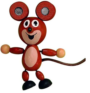 DETOA magnetka Myška (Dřevěné hračky )