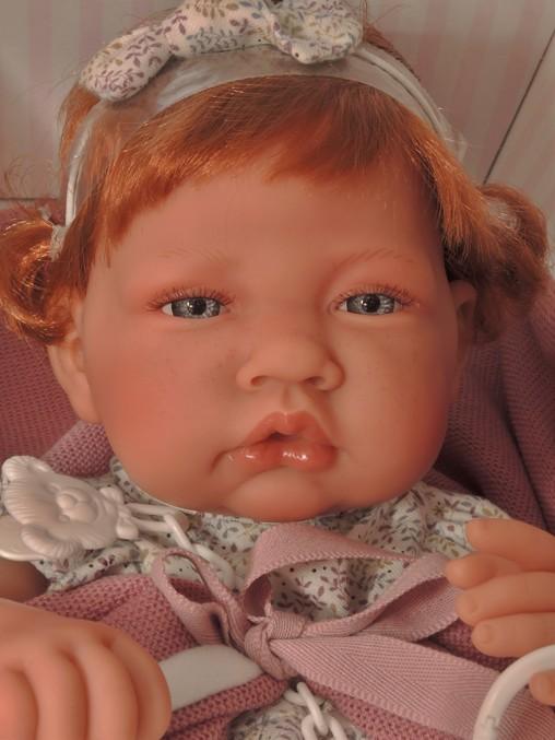 Realistické miminko - holčička -zrzavé vlásky od Antonio Juan