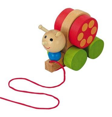 DETOA - Šnek tahací (Dřevěné hračky )