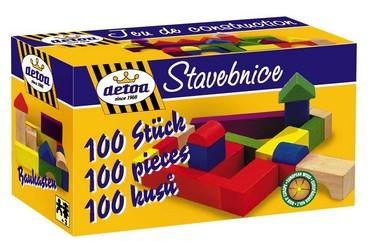 DETOA stavebnice 20 mm 100 ks (Dřevěné hračky )