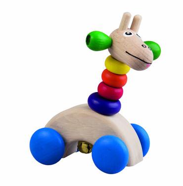 DETOA - žirafa na kolečkách (Dřevěné hračky )