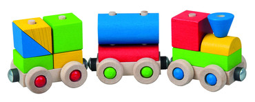DETOA veselý vláček (Dřevěné hračky )