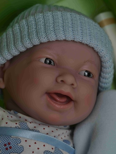 Realistická panenka chlapeček Kubík od firmy Berenguer (Doprava zdarma)
