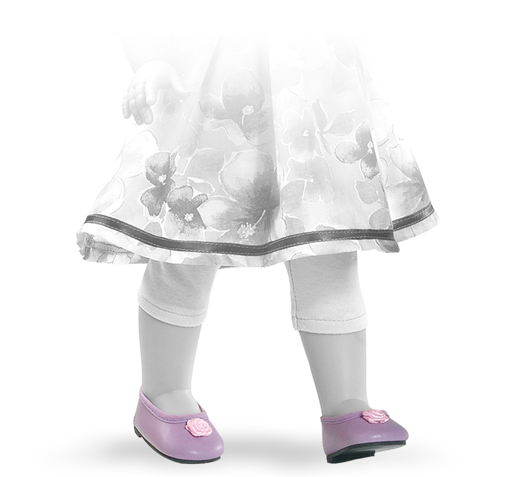 Fialové nízké boty s růžovou kytičkou
