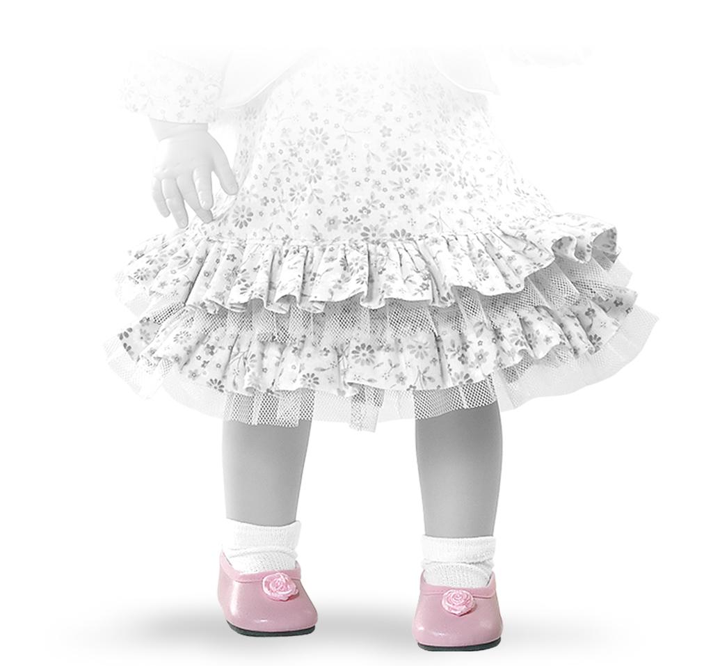 Růžové nízké boty s růžovou kytičkou