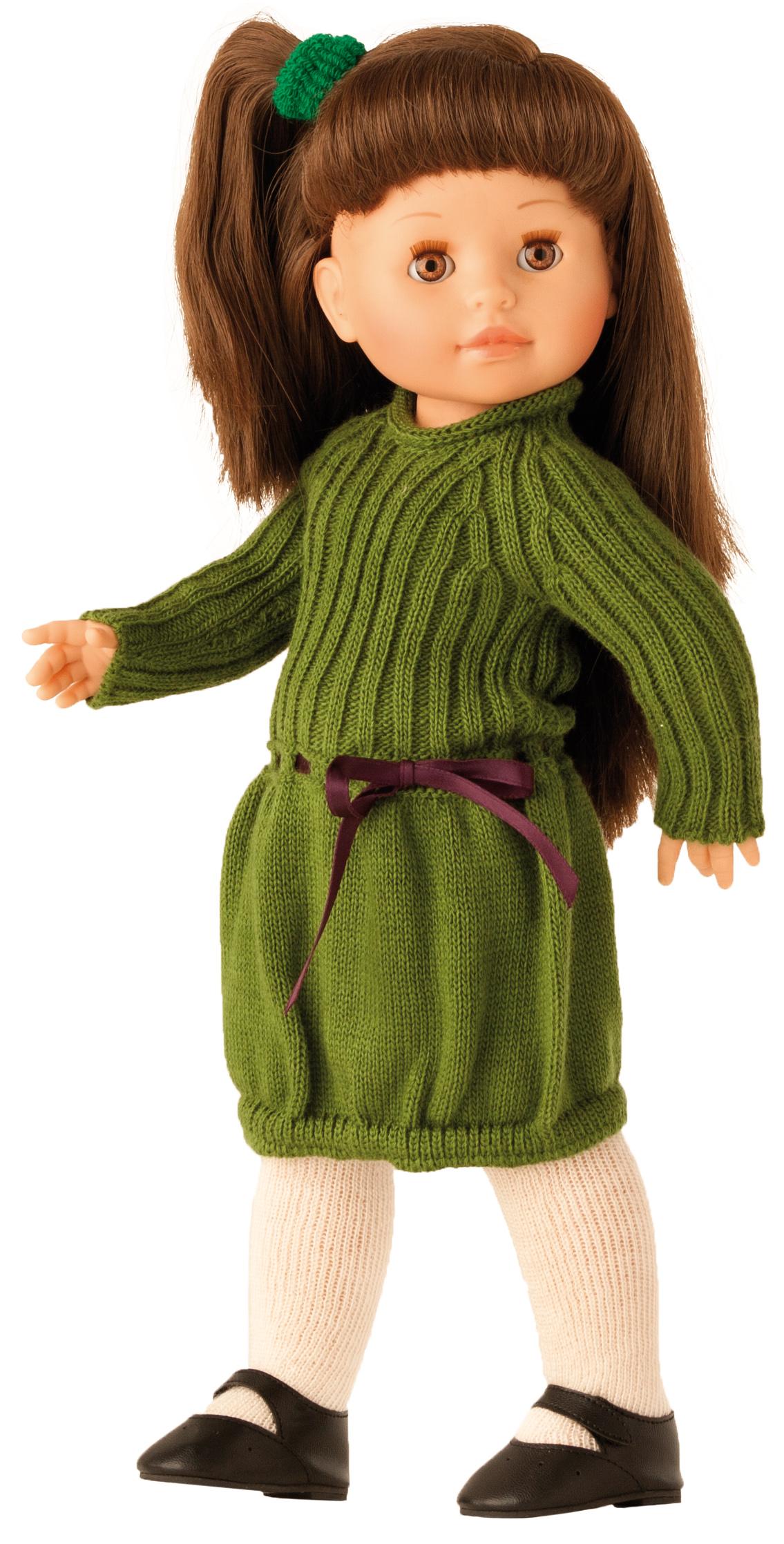 Realistická panenka Emily v pletených šatech
